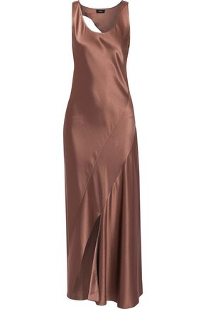 THEORY Cutout satin maxi dress