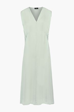 THEORY Silk-charmeuse midi dress