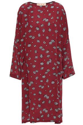MARNI Floral-print silk crepe de chine dress
