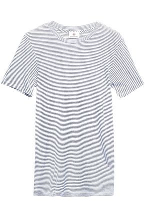 AG JEANS Striped stretch-jersey T-shirt