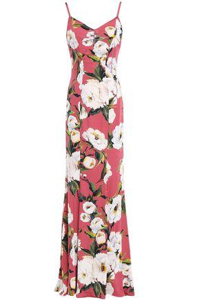 DOLCE & GABBANA Floral-print silk-blend crepe de chine gown