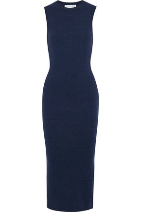 VICTORIA BECKHAM Brushed stretch-knit midi dress