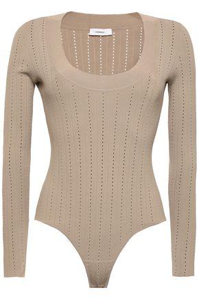 CASASOLA Pointelle-knit bodysuit