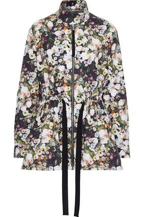 ADAM LIPPES Floral-print cotton-poplin jacket