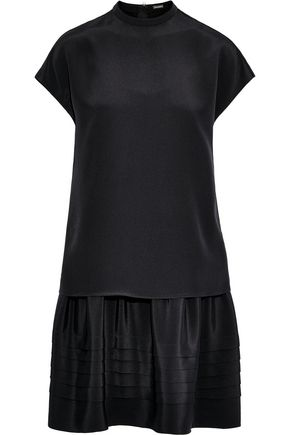 ADAM LIPPES Layered silk-crepe mini dress