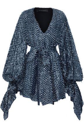 ROLAND MOURET Hamberg metallic fil coupé mini dress