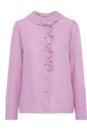 VANESSA BRUNO Ruffle-trimmed twill shirt