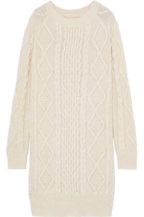 VANESSA BRUNO Justina cable-knit alpaca-blend dress