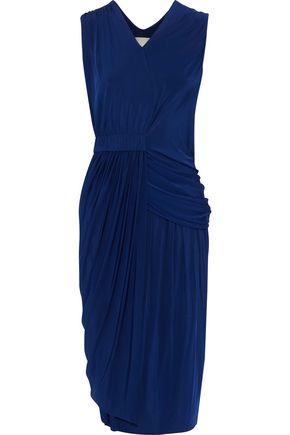 JASON WU Asymmetric draped stretch-jersey dress