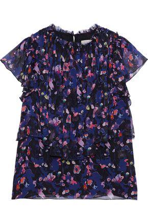 JASON WU Layered floral-print silk-georgette blouse