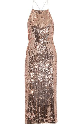 JASON WU Open-back sequined satin dress