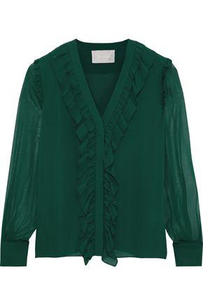 JASON WU Ruffle-trimmed silk-chiffon blouse