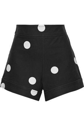 DEREK LAM 10 CROSBY Polka-dot stretch-cotton twill shorts