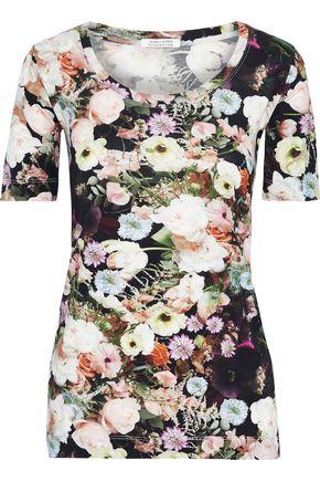 ADAM LIPPES Floral-print cotton-jersey T-shirt