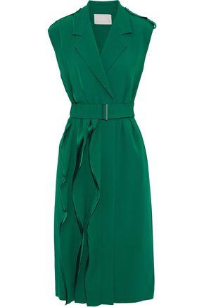 JASON WU Wrap-effect ruffled crepe dress