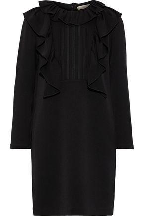 VANESSA BRUNO Jakine ruffled pintucked crepe mini dress