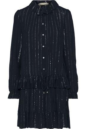 VANESSA BRUNO Jasmeene metallic striped gauze mini dress