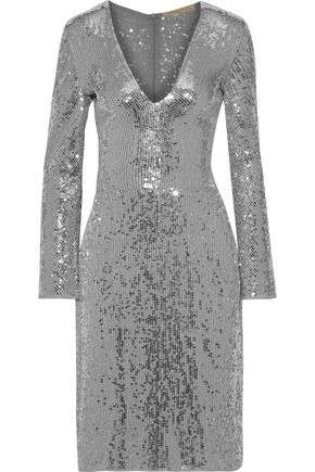 VANESSA BRUNO Sequined chiffon dress
