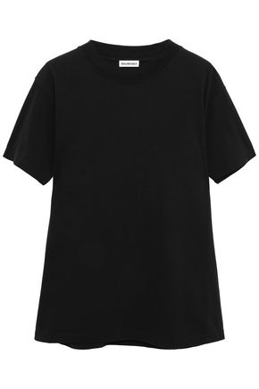 BALENCIAGA Appliquéd cotton-jersey T-shirt