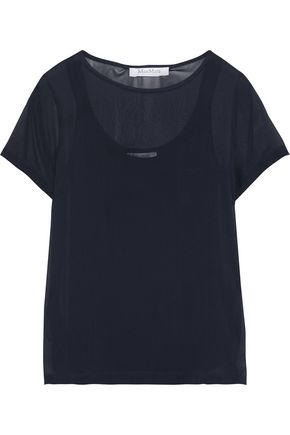 MAX MARA Domino silk-georgette T-shirt
