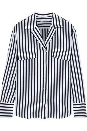 FRAME Striped silk crepe de chine shirt