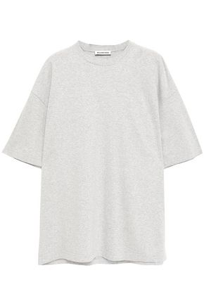 BALENCIAGA Embroidered mélange cotton-jersey T-shirt