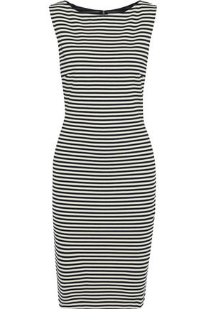 MAX MARA Afro striped stretch-jersey dress