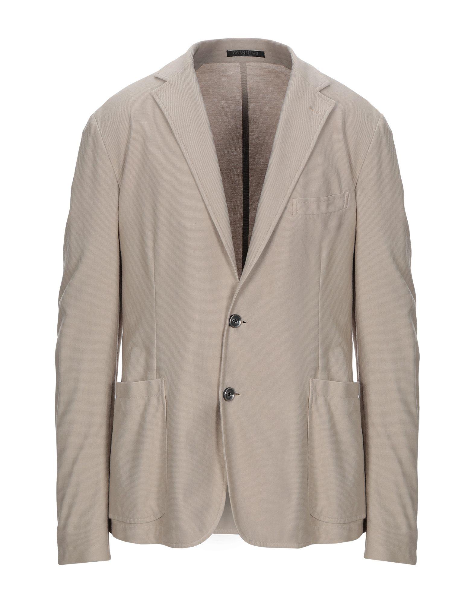 《期間限定セール開催中!》TREND CORNELIANI メンズ テーラードジャケット ベージュ 54 コットン 100%