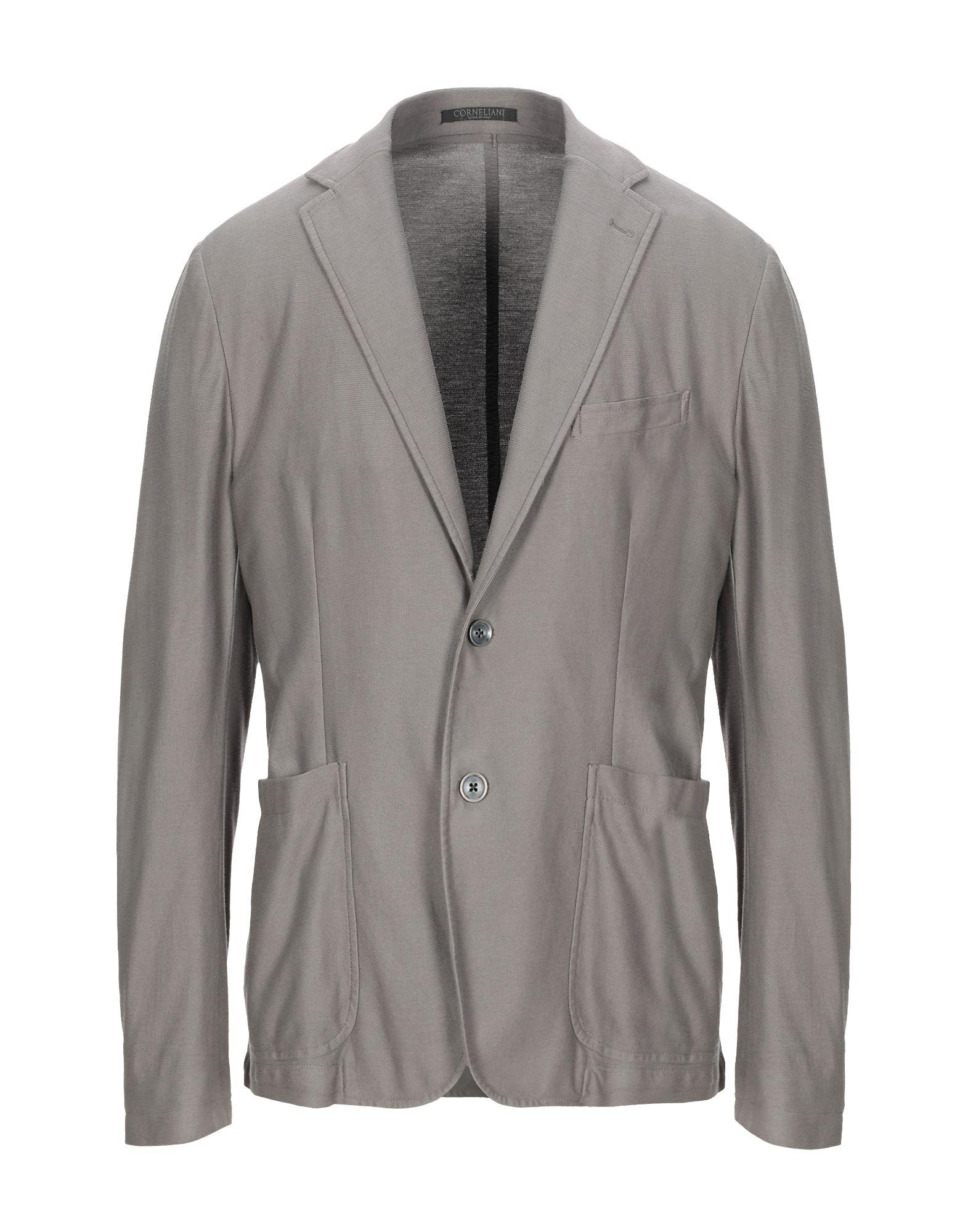 《期間限定セール開催中!》TREND CORNELIANI メンズ テーラードジャケット ドーブグレー 50 コットン 100%