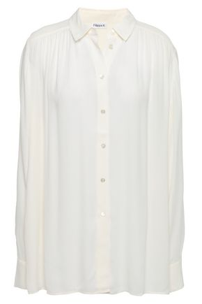 FILIPPA K Gathered twill shirt