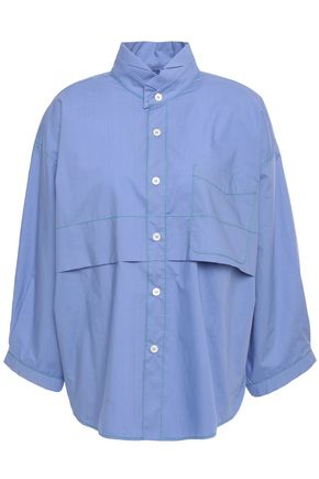 MARNI Iris layered cotton-poplin shirt