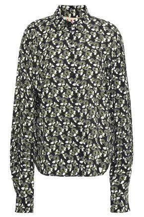 MARNI Floral-print crepe shirt