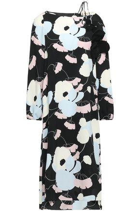 MARNI Floral-print crepe de chine dress