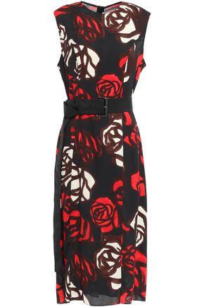 MARNI Roma floral-print crepe midi dress
