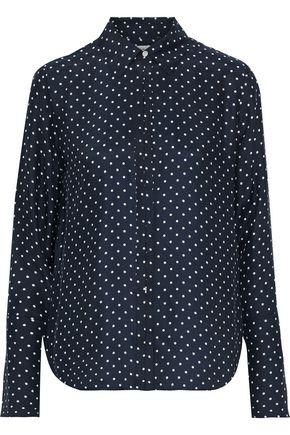 FRAME Polka-dot washed-silk shirt
