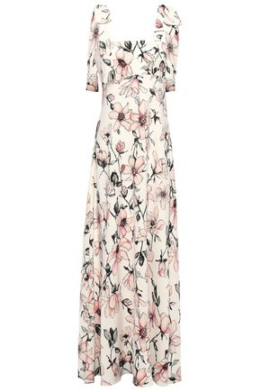 GOAT Harmony bow-detailed floral-print crepe-jersey maxi dress