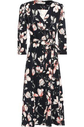 GOAT Glenda floral-print crepe midi wrap dress