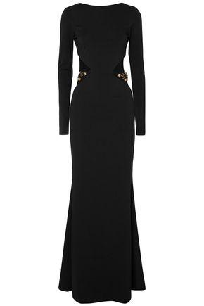 HANEY 装飾付き カットアウト ストレッチキャディ ロングドレス