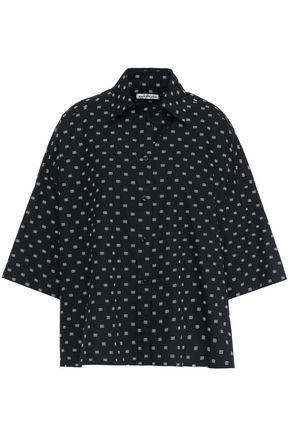 BALENCIAGA Oversized printed cotton-poplin shirt