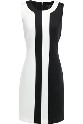 DKNY Fresh Perspective two-tone scuba mini dress