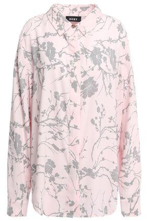 DKNY Fresh Perspective floral-print cady shirt
