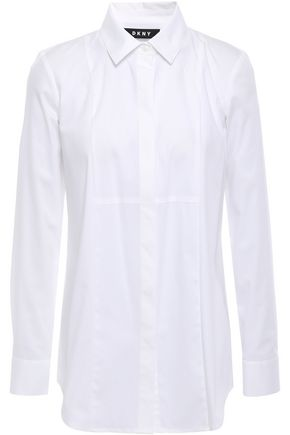 DKNY Cotton-blend poplin shirt