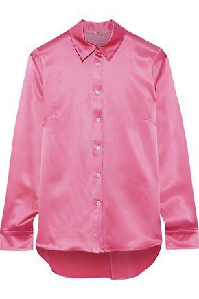 ADAM LIPPES Silk-charmeuse shirt