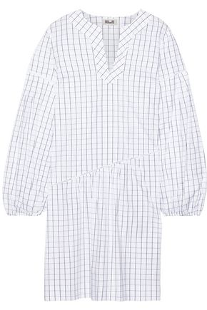BAUM UND PFERDGARTEN Abony checked cotton-blend poplin dress