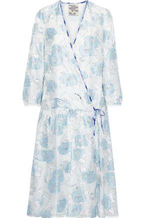 BAUM UND PFERDGARTEN Aden metallic fil coupé organza wrap dress