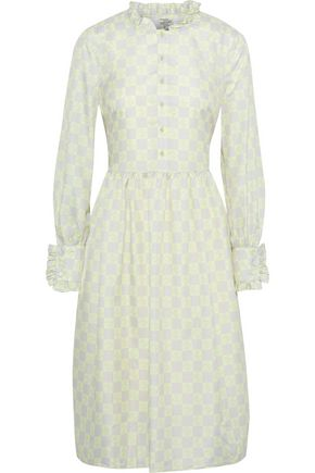 BAUM UND PFERDGARTEN Agacia ruffled-trimmed checked poplin dress