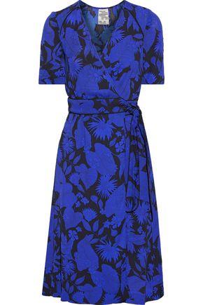 BAUM UND PFERDGARTEN Floral-print crepe de chine wrap dress
