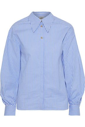 BAUM UND PFERDGARTEN Striped stretch cotton-poplin shirt