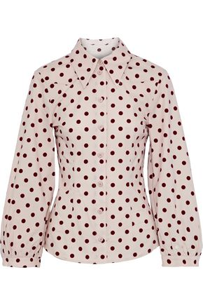 BAUM UND PFERDGARTEN Meriel polka-dot stretch cotton-poplin shirt
