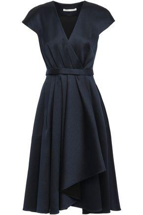 JASON WU Wrap-effect pleated satin-twill dress